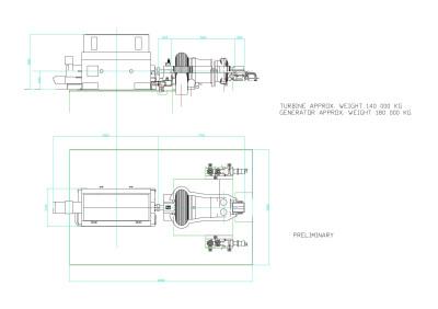 паровая турбина MTD40 размеры