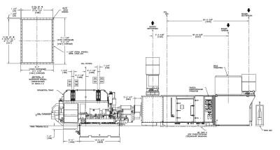 LM2500 чертеж вид сбоку