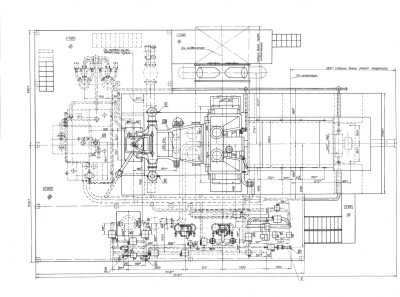 паротурбинная установка П-25-3,4/0,6 чертеж 2