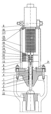 конструкция регулирующего клапана ВД