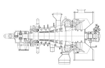сечение паровой турбины