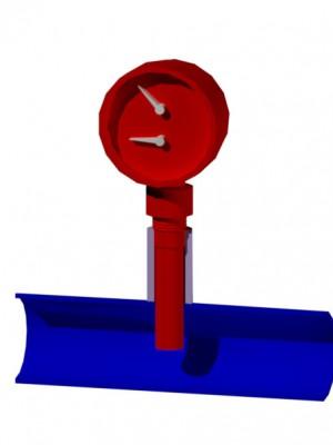 термоманометр в 3d