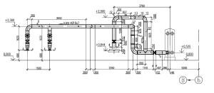 На чертеже показан уклон трубопроводов напора сетевых насосов к подогревателю сетевой воды