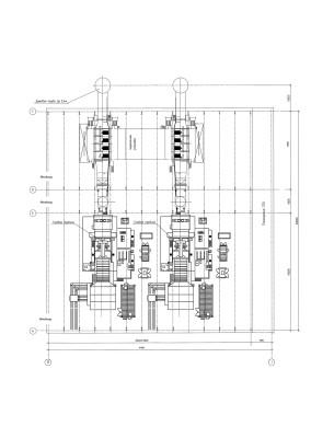 Компоновка ГТУ-ТЭЦ с ГТУ типа MS6001FA