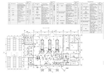 компоновка оборудования газопоршневой электростанции чертеж 1