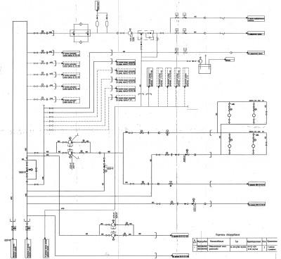 схема трубопроводов дизельного топлива