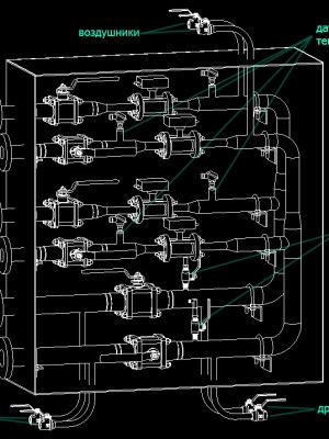 схема УУТЭ на компоновке