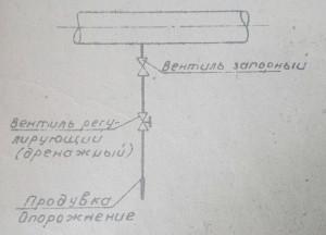 дренаж с регулирующим вентилем